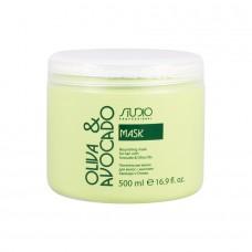 Kapous. Питательная маска для волос с маслами Авокадо и Оливы
